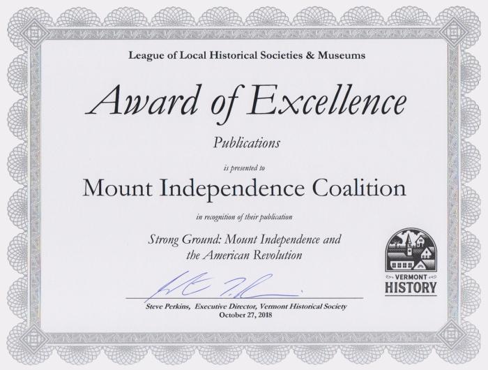 LLHSM Award of Excellence